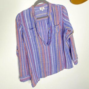 Vintage Cotton Stripe Shirt | Size M